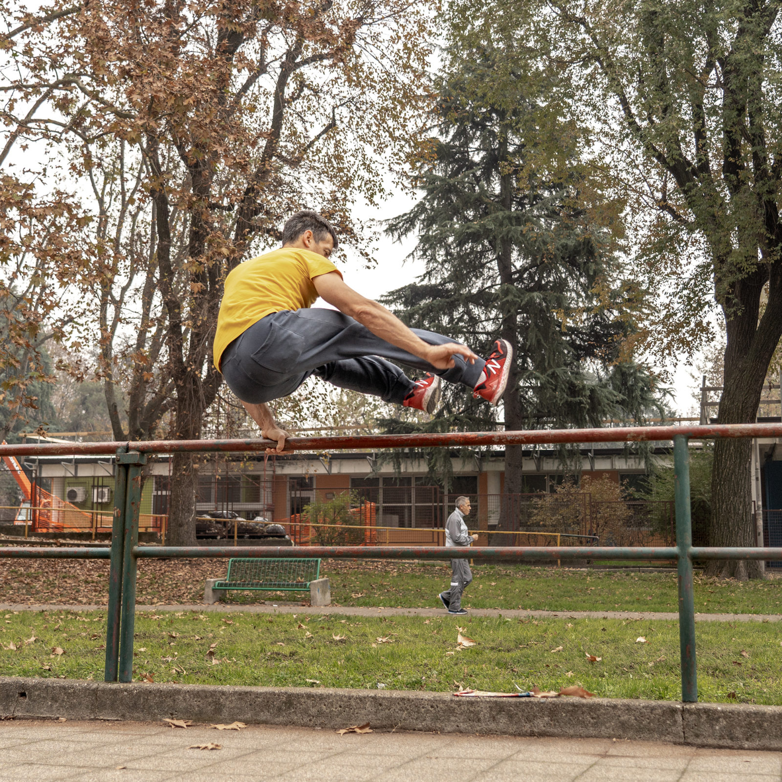 Laurent Piemontesi allenamento sbarre